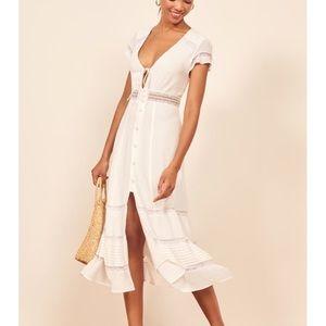 🌟nwot Reformation Garland ivory midi dress size 4